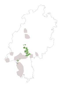 Verbreitungskarte Hessen