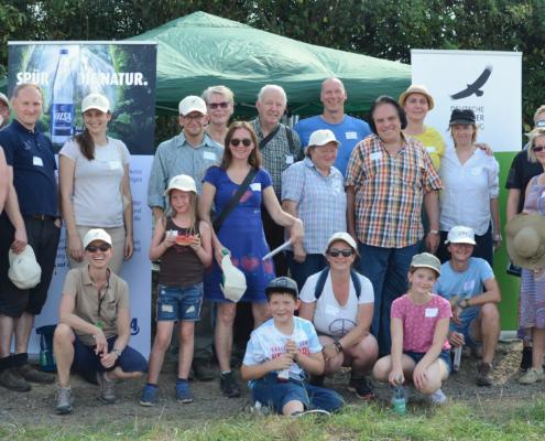 Die Gäste und Fördergemeinschaft des Feldhamster-Aktionstages 2019. Die Deutsche Wildtier Stiftung freut sich sehr über das Interesse und bedankt sich für den Einsatz auf der Feldhamster-Fläche.