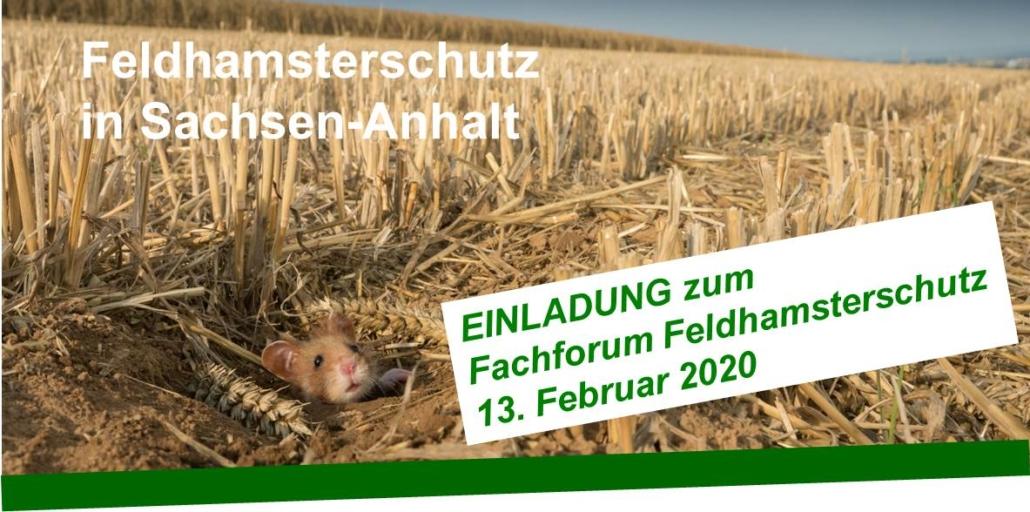 Feldhamsterschutz Forum in Sachsen-Anhalt am 13 02 2020
