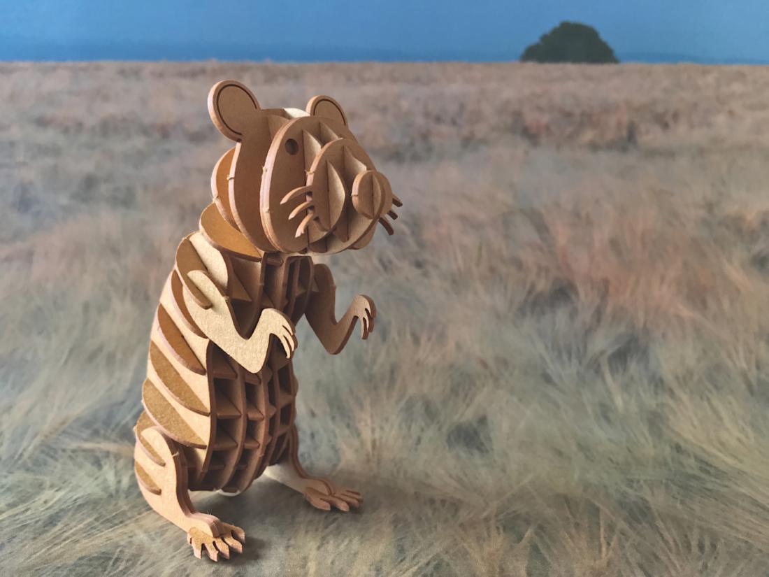 Fridolin 3D Modell Feldhamster